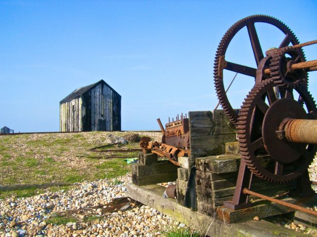 Dungeness machine-shed smaller