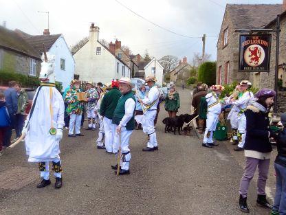 Ripley Morris Men traditionally dance in Hognaston on New Year's Day...