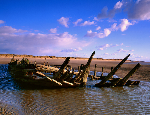 "Wreck of the ""Star of Hope"", Ainsdale beach, Southport (2)"