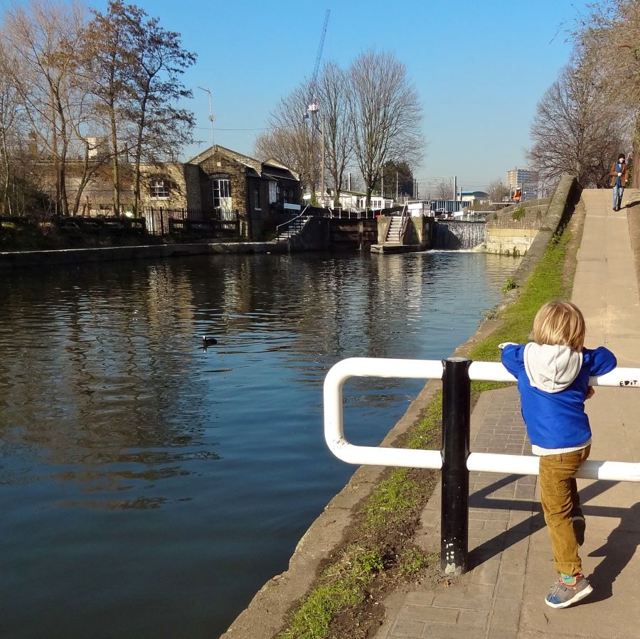 Joe looks towards St. Pancras Lock...