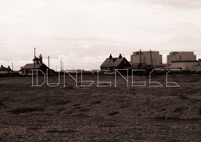 Dungeness Typeface typed out edit