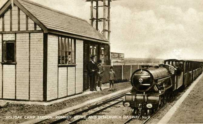 Kent, Romney, Hythe and Dymchurch Railway, Holiday Camp Station c.1929 - 1280pix