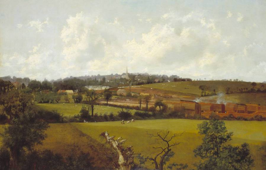 Hampstead from the South-East circa 1852-5 by Alfred Clint 1807-1883