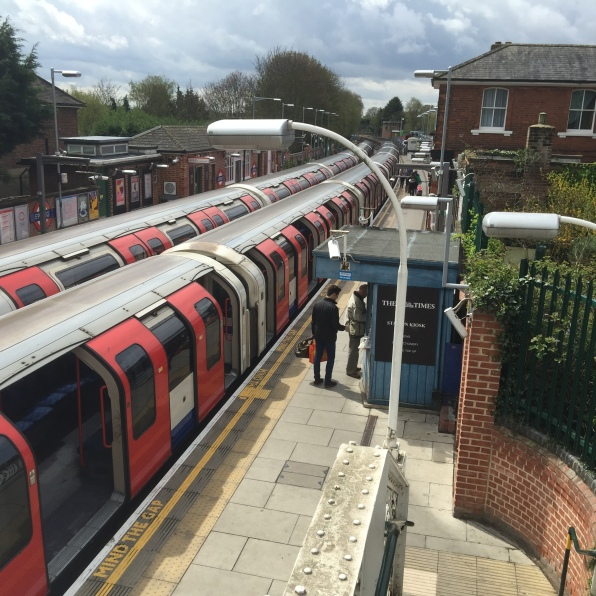 Our modern-day Central line train @ Epping Station...