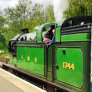 No.1744 was the second engine hauling our homeward train...