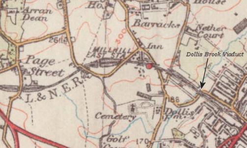 Dollis_Brook_Viaduct_map