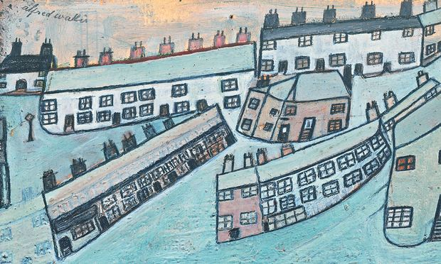 Alfred Wallis's Houses at St Ives, Cornwall, c1928-42.