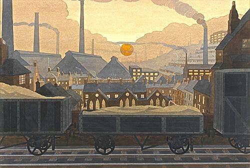 Sunset in the Black Country by John Edgar Platt