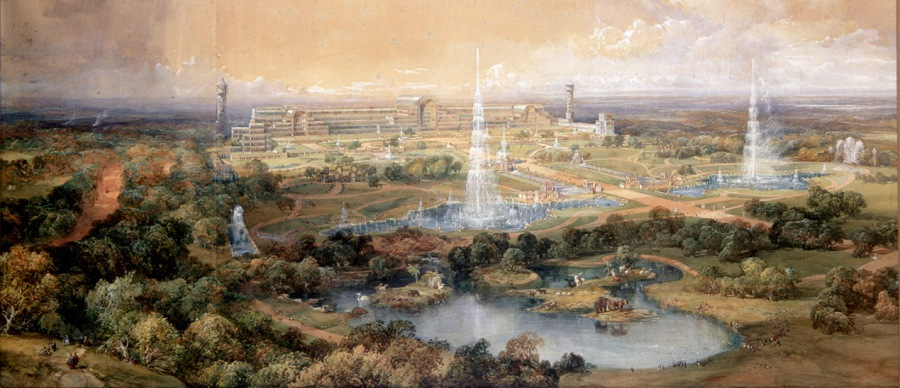 Crystal Palace and its grounds at Sydenham, London