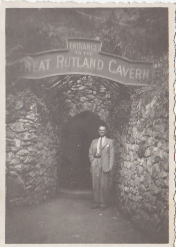 Great Grandad Slater outside Rutland Cavern